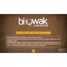 Jabón de aceite de Argán Bio con miel 80gr